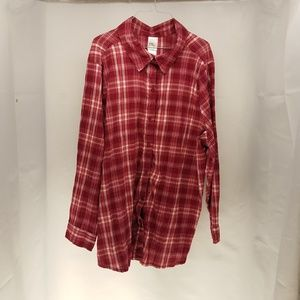 JMS Cherry Plaid Women's Long Sleeve Shirt 4X